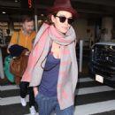 Lena Headey  – Arrives at LAX Airport in LA - 454 x 750