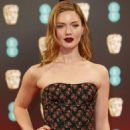 Holliday Grainger on Red Carpet at BAFTA Awards in London, UK 2/12/ 2017 - 454 x 681