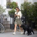 Pippa Middleton – Walking her dogs in London - 454 x 303