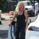 Goldie Hawn – Visits her son Oliver Hudson in Brentwood - 454 x 681