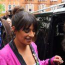 Lea Michele Leaving BBC Radio 2 studios in London - 454 x 682
