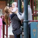 Amy Adams at an LA park with her daughter (March 9, 2011)