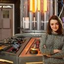 Maisie Williams in the TARDIS