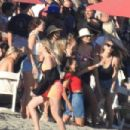 April Love Geary attends a beach party in Malibu - 454 x 303