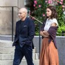 Katie Holmes and Patrick Stewart out in Montreal