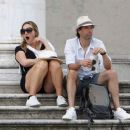 Kate Winslet and her husband Ned Rocknroll out in Venice - 454 x 382