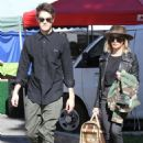 Ashley Tisdale and Christopher French with their puppy at Farmer's Market in LA - 454 x 681