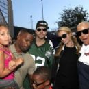 Paris Hilton Kickn It For Charity Celebrity Kick Ball Game In Glendale