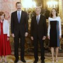 King Felipe and Letizia host a lunch for literature world members