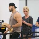 Britney Spears and boyfriend Sam Asghari – Leaves Miami Beach