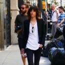 Katherine Moennig and Liev Schreiber – Filming 'Ray Donovan' in NYC - 454 x 696