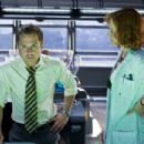 Scientist Grace Augustine (Sigourney Weaver) is not pleased with the corporate policies of Selfridge (Giovanni Ribisi), the station supervisor at the human base on a distant world. Photo credit: Mark Fellman