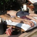 Lauren Conrad in a bikini while vacationing in Cabo with boyfriend William Tell (July 15) - 454 x 298