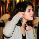 Selena Gomez Shopping for the Holidays at Armani Exchange - December 3rd