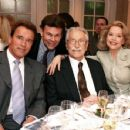 Betty Brosmer  with Joe Weider (husband),   Arnold Schwarzenegger - 454 x 352