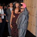 Naomi Campbell and Quincy Jones