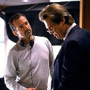 Director Iain Softley and Jeff Bridges on the set of Universal's K-PAX - 2001