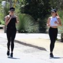 Reese Witherspoon with Ava – Jogging candids