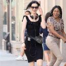 Krysten Ritter in Black Dress – Filming 'Jessica Jones' in New York - 454 x 681