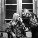 Duane Allman with Gregg Allman and Berry Oakley backstage before the Allman Brothers' performance at the Sitar on October 17, 1970 in Spartanburg, South Carolina - 454 x 300