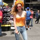Bella Thorne at Viacom Time Square Promoting her New Music Video in NYC