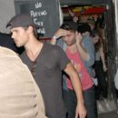 Taylor Lautner sneaking out the back of the Troubadour in West Hollywood after a concert on Tuesday night