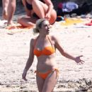 Chelsy Davy in Orange Bikini on holiday in Saint Tropez - 454 x 681