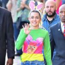 Miley Cyrus – Seen at Jimmy Kimmel Live in Los Angeles