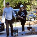 Amy Adams – Hiking with her family in Beverly Hills