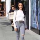 Mara Teigen in Ripped Jeans – Out in Beverly Hills - 454 x 666