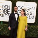 Natalie Portman and Benjamin Millepied : 74th Annual Golden Globe Awards - 399 x 600
