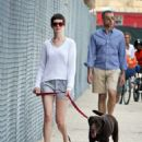 Anne Hathaway walking her dog in NYC (August 24)