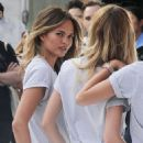 Chrissy Teigen Lily Aldridge and Candice Swanepoel At A Photoshoot Promoting The Watch Hunger Stop Campaign In New York
