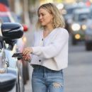 Hilary Duff in Ripped Jeans – Out in Studio City