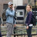 Olivia Wilde spotted taking a walk during a break from filming her upcoming movie 'Life, Itself' in Manhattan, New York's Washington Square Park on March 26, 2017 - 424 x 600