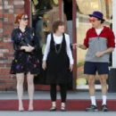 Christina Hendricks - Leaving Paco's Mexican restaurant in L.A. - October 31, 2010