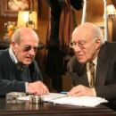 Director Manoel de Oliveira and Michel Piccoli on the set of Belle toujours. - 454 x 302