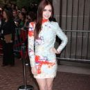 Lily Collins premiering