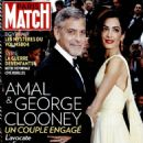 Amal Alamuddin, George Clooney - Paris Match Magazine Cover [France] (26 May 2016)