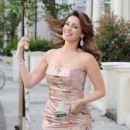 Kelly Brook's fancy dress in London, England on June 28, 2012