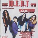 Paul Geary, Pat Badger, Nuno Bettencourt - M.E.A.T. Magazine Cover [Canada] (October 1992)