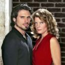 Joshua Morrow and Michelle Stafford