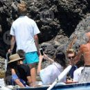Vanessa Hudgens and Austin Butler mingled with model Luciana Gimenez Morad and her son Lucas Jagger in Portofino, Italy - 19 June 2016 - 417 x 600