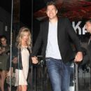 Ashley Tisdale and Scott Speer: out of Katsuya restaurant in Los Angeles