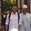 Jamie Dornan leaving his hotel in Paris  (July 21, 2016)
