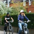 Geri Halliwell Biking With A Personal Trainer Near Her London Home 2008-04-21