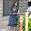 Jessica Alba in Blue Dress – Visits her friends in Santa Monica - 454 x 537