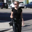 Tanya Burr in Black – Heading to meetings in Los Angeles - 454 x 681