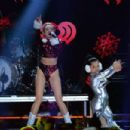 Miley Cyrus performs onstage during Z100's Jingle Ball 2013, presented by Aeropostale, at Madison Square Garden on December 13, 2013 in New York City