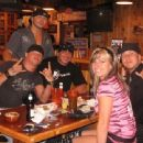 Julie Drozdov, Shannon Moore, Matt Hardy, Yuk and Kimo at Hooters